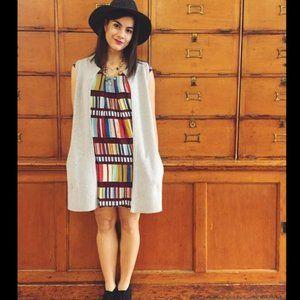 Anthro Maeve Au Revoir Stripe Colorful Dress Sz 8